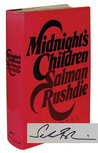 "MIDNIGHT'S CHILDREN by Rushdie, Salman.. New York:: Alfred A. Knopf, 1981.. First edition.. A Very Good+ book in a Near Fine dust jacket.. Signed by the author on the title page The author's breakout second novel, winner of the ""Booker Prize"" and the ""Booker of Bookers,"" among others. An important work in the magical realism genre and Indian literature generally.  Listed by Whitmore Rare Books.  #firstedition"