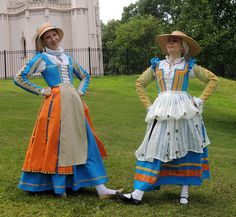 Renaissance italian peasant style. So colorful!