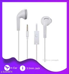 Checkout this latest Wired Headphones & Earphones Product Name: *Trendy Stylish Rubber Wired Earphone * Product Name: Trendy Stylish Rubber Wired Earphone  Material: Rubber Product Type: Earphone Type: In The Ear Compatibility: All Mobile Devices Multipack: 1 Color: White Mic: Yes Audio Jack Type: 3.5 mm Sizes:  Free Size Country of Origin: china Easy Returns Available In Case Of Any Issue   Catalog Rating: ★4 (974)  Catalog Name: Trendy Stylish Rubber Wired Earphone CatalogID_794763 C97-SC1375 Code: 641-5344874-522