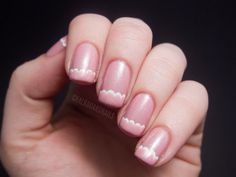 Delicate Scallop Tipped French Manicure. See how