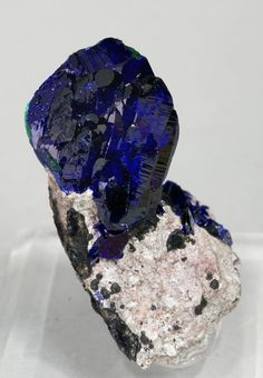 Azurite with Malachite Mineral Specimen - Large Photo - Fabre Minerals