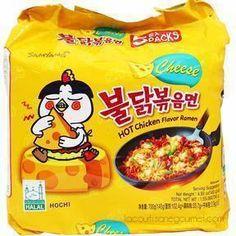 x 5 Ramen Noodles Package, Spicy Ramen Noodles, Korean Fire Noodles, Cheese Ramen, Cheese Noodles, Gourmet Recipes, Snack Recipes, Snacks, Cooking Recipes
