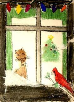Cat in the Window by HamsterHuey