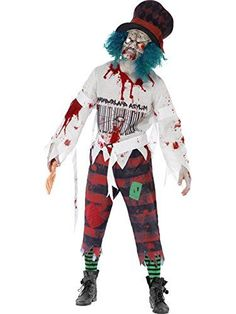 Zombie Halloween Costumes are currently very popular and trendy costume choice for Halloween 2017. Especially true when it comes to both scary, wicked, and sexy women's zombie Halloween costumes and men's Twisted, creepy and spooky zombie Halloween Costumes. Although frightening kids zombie Halloween costumes are also all the rage for Top Halloween Costume Ideas for Halloween 2017. Smiffys Men's Zombie Hatter Costume