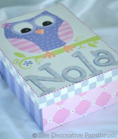 Painted Memory Box TakeOut Menu Holder por TheDecorativeBrush, $35.00