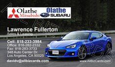 2013 Subaru BRZ Business Card ID# 20902