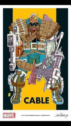 Cable Marvel, John Romita Jr, Comic Books, Comics, Cartoons, Cartoons, Comic, Comic Book, Comics And Cartoons