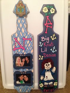 Looking through all my old college stuff and found some of my Delta Gamma paddles.