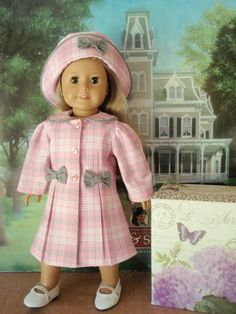 SALE American Girl Doll Madeline Style Coat and by izzadorabelle