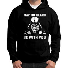 MY THE BEAWRD BE WITH YOU Gildan Hoodie (on man)