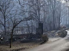 Not much remains from this home on Tuesday, Nov. Gatlinburg Fire, Gatlinburg Tennessee, The Mountains Are Calling, Great Smoky Mountains, Tennessee Fire, Gates Of Hell, Mountain Pictures, Pigeon Forge, Pay Attention
