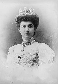 HM Queen Elena of Italy née Princess of Montenegro.
