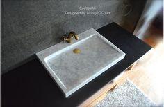 Crystals DIY Essential Oils Stones And Crystals Bracelets Washroom Tiles, Vessel Sink Bathroom, Sinks, Diy Crystals, Stones And Crystals, Crystals Minerals, White Marble Bathrooms, Trough Sink, Marble Stones