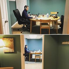 Right on the other side of my office is a new recording studio! Built by our partner Avid Co. it is a quiet & calm room for recording. Wish I had a beforeafter because this room in our basement used to be storage tools drains misc junk - and now its lovely.