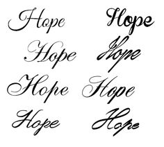 Hope Tattoo Ideas.... I Cant decide which one i should do, ?