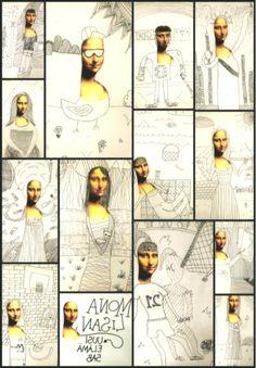 The Renaissance - Mona Lisa& new life. Art Sub Plans, Art Lesson Plans, Art Lessons For Kids, Art Lessons Elementary, High School Art, Middle School Art, Classe D'art, 5th Grade Art, Ecole Art