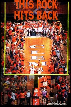 Clemson tradition...running down the hill!