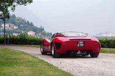 This is the view most people get from the Alfa Romeo, 33 Stradale (1968)