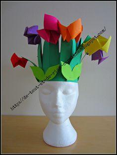 Spring paper hat! #FLVS #paperpaperpaper