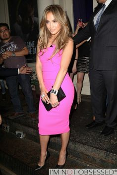 Jennifer Lopez is pretty in pink!