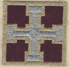 Christmas Cross - Free Needlepoint Pattern, copyright Napa Needlepoint