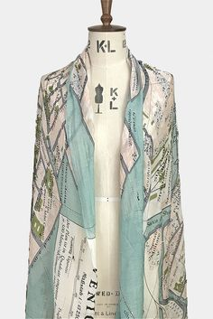 Venice Map Scarf / One Hundred Stars / Godiva Boutique