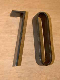 Hand forged house numbers, Z-Collection, made by Lerou.