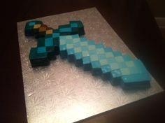 Diamond sword from MineCraft made with marshmallow fondant