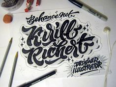 lettering sketches (2014) on Behance