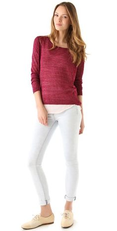Rag & Bone Granada Sweater - sheer and shimmery. Love it!