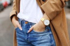 Gold, camel and jeans