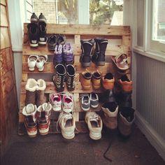 diy shoe pallet