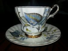 QUEEN ANNE DAINTY BLUE VIOLET 290 FINE CHINA ENGLAND CUP AND SAUCER