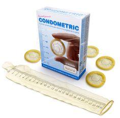 Condometric. El primer preservativo que muestra la longitud de tu pene. Vamos!