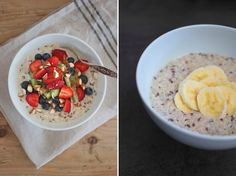 Kald Quinoagrøt ½ dl quinoa / ca 3 ss ferdig kokt quinoa 2 ss havregryn 1 ss linfrø 1 ss naturell yoghurt 2 dl melk