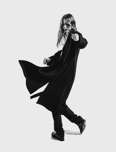 Movement and gesture have always been key for the designers at Lemaire, where they practice a functional minimalism that allows a woman to move. Here, Jeni show Lemaire, Fall 2016, Goth, Feminine, Instagram, Infinite, Shopping, Minimalism, Designers