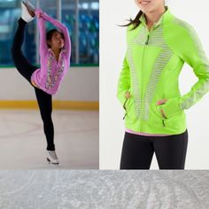 Perfect Your Practice Jacket ☻Right side // lime green! Gymnastics Camp, Figure Skating Outfits, Girls Hoodies, Athletic Wear, Sport Wear, Dance Outfits, Ice Skating, Fasion, Pretty Outfits