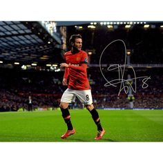 Juan Mata Signed Manchester United Old Trafford Photo (Icons Auth & Third Party Holo)