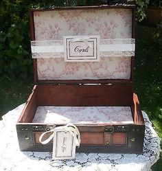 Wedding Wooden Suitcase Vintage Style - Card Holder Post Box - Hire Only