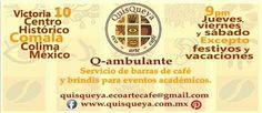 También tenemos el gusto de organizar barras de café y brindis académicos: Q-ambulante