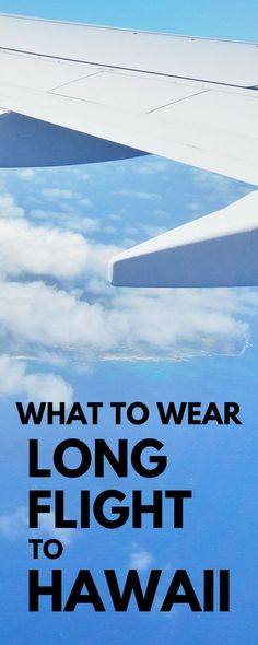 Whether Hawaii vacation is on Oahu, Kauai, Maui, Big Island with hikes and beaches, think what to wear on long flight to Hawaii from mainland USA, Canada, Australia, or Europe. What to pack for carry-on clothes when flying from cold to warm. International travel tips planning bucket list destinations on budget! Packing tips for suitcase or backpack for long haul plane ride, things to add to checklist. Essentials, products for travel. Hawaii packing list, ideas of what to pack for Hawaii.