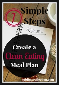 Seven Steps to Create a Clean Eating Meal Plan - Sublime Reflection   by Kimberly Job