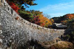 """남한산성 서문. 날씨 너무 좋았다! (Namhansanseong, """"South Han Mountain Fortress"""", Gwangju City - near Seoul, South Korea)"""