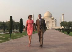 November 06, 2017, Monday, on the first day of India, New Delhi state visit, King Philippe of Belgium and Queen Mathilde of Belgium visited Taj Mahal in New Delhi. The King and the Queen of Belgium currently make a 7 day state visit to India upon invitation of the President of India.