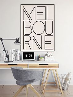 Melbourne Melbourne Print Melbourne Wall Art by DashofSummer