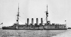 HMS Cressy was a Cressy-class armoured cruiser built by Fairfield Shipbuilding. Completed May'01 & assigned to the China Station. '07 she was transferred to the N.America and W.Indies Station & placed in reserve in '09. Recommissioned at the start of WW I, she played a minor role in the Battle of Heligoland Bight a few weeks after the beginning of the war. Cressy, together with two of her sister ships, was torpedoed and sunk by the submarine U-9 on 22/09/14 with the loss of 560 of her crew.