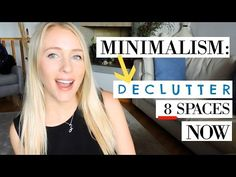 MINIMALISM: 8 CATEGORIES TO DECLUTTER NOW! - YouTube