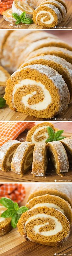 Traditional PUMPKIN ROLL with that irresistable cream cheese filling! Perfect for the holidays or any time of year. Easy to make and ALWAYS a crowd pleaser!