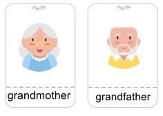 Mother's day, Family flashcards