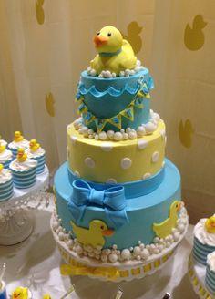 MBees custom cakes  Rubber ducky vanilla bean butter cake